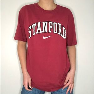 stanford nike 2000s y2k red tee t-shirt